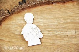 Laser cut chipboard - Holy Communion Boy - Scrapiniec
