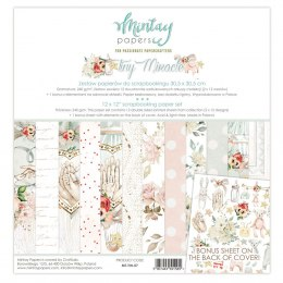 Tiny Miracle scrapbooking paper set ,12 pcs