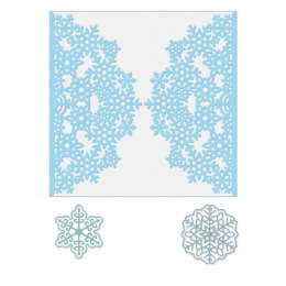 3 dies - Snowflakes and border die - Dp Craft