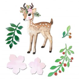 6 dies - Boho Bambi with laves and petals - Dp Craft