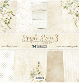 Simple Story 3 Beige Scrapbooking paper set - 12x12 - Scrap and Me