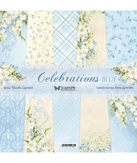 Celebration Blue12x12 paper set