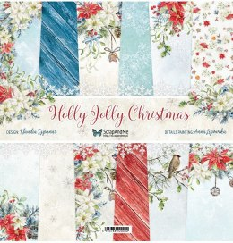 Holly Jolly Scrapbooking Paper set - 12x12 -Scrap and Me